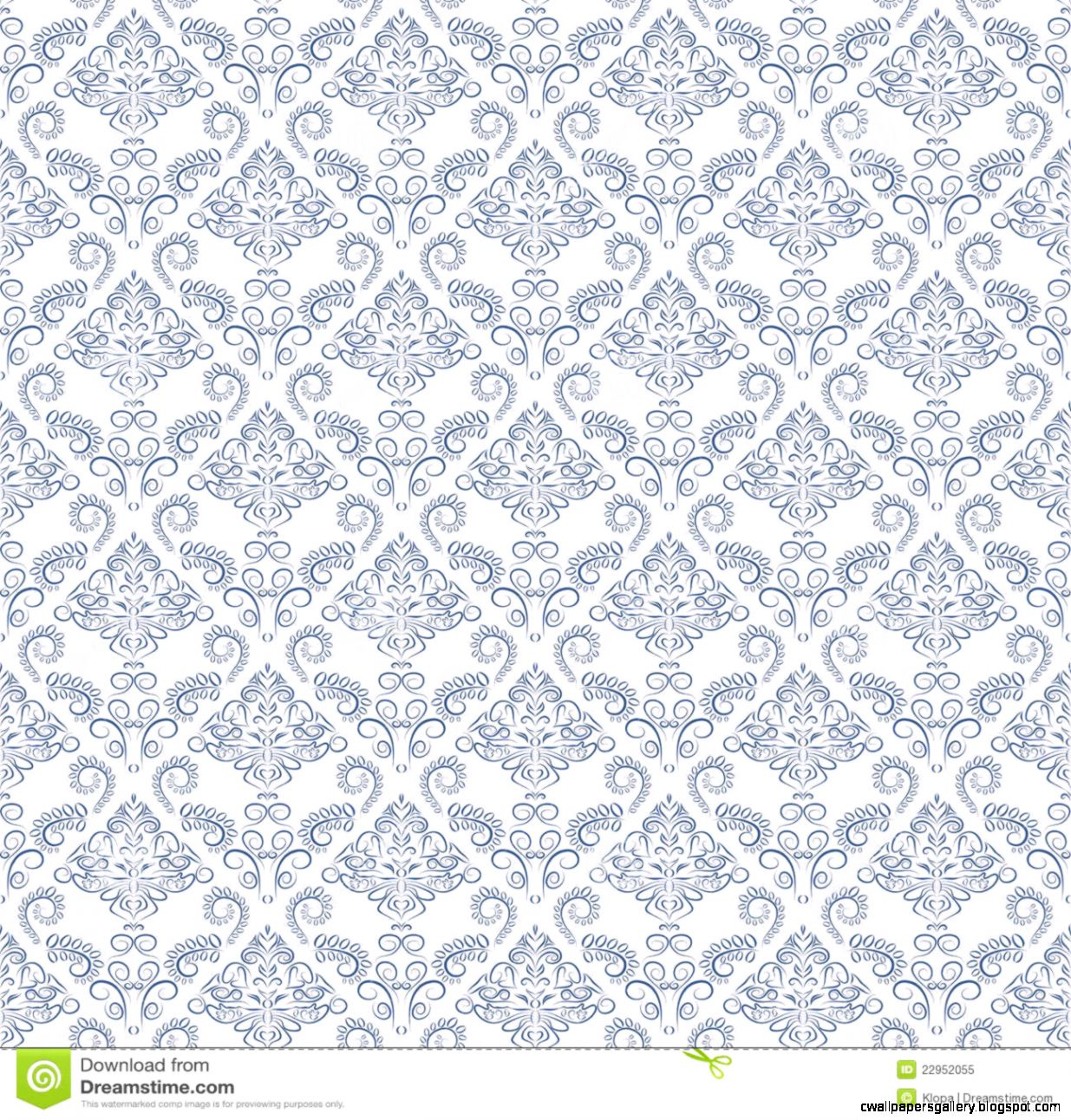 Blue Vintage Seamless Pattern Wallpaper Royalty Free Stock Photo