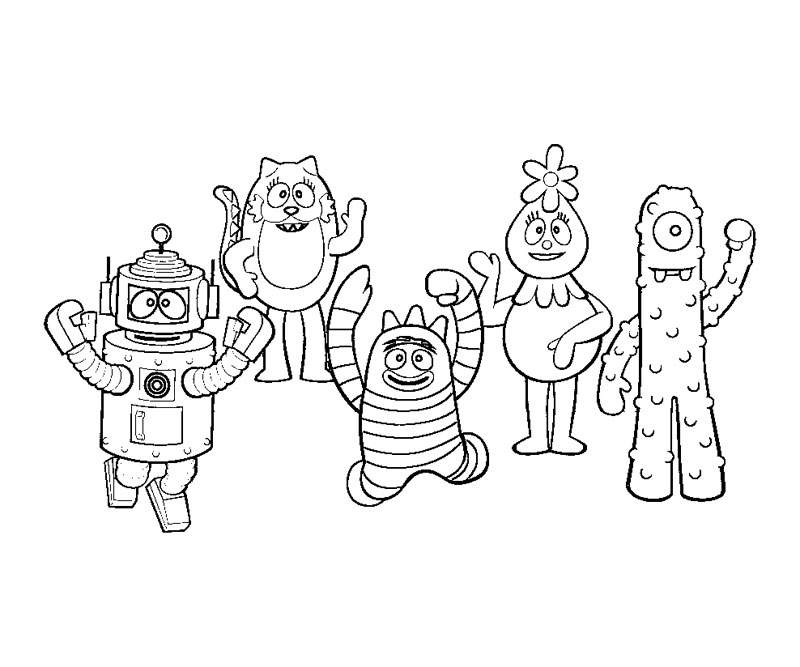 yogabbagabba coloring pages - photo #25