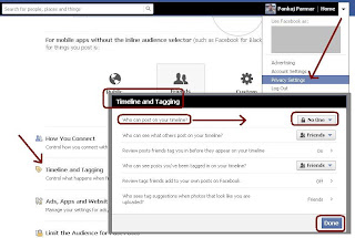 Block others writing and adding photo on your Facebook wall