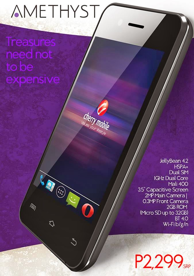 Cherry Mobile Amethyst: Specs, Price and Availability