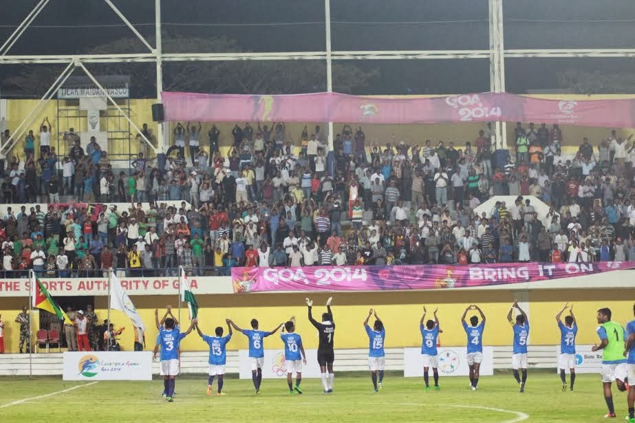 Goa India Appluading the Lusofonia 2014 games crowd