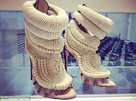 a5ad4c838d54 Kanye West collaborated with fashion designer Giuseppe Zanotti and created women s  shoes.