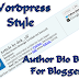Wordpress Style Author Bio Box For Blogger