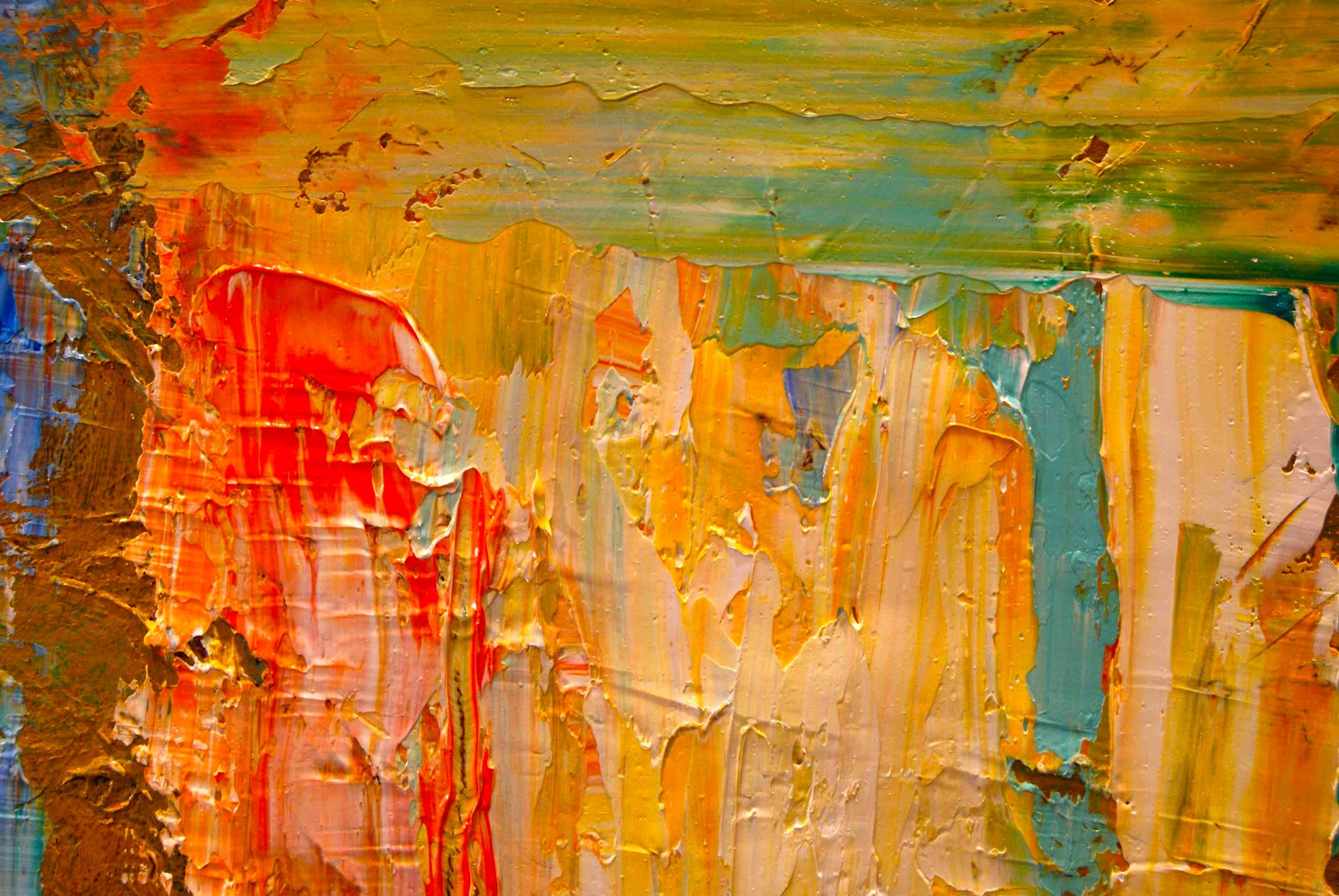 Daily Painters of California Colorful Textured Abstract Painting by