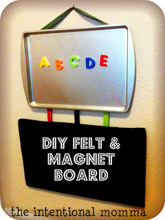 DIY felt and magnet board crafts for preschoolers
