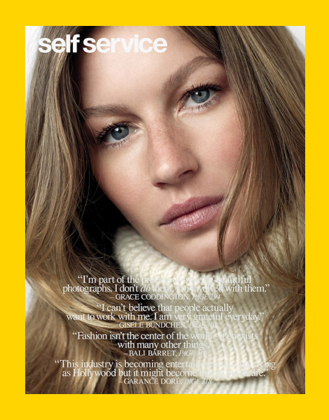 Gisele Bundchen by Roe Ethridge for Self Service Fall 2013 Cover