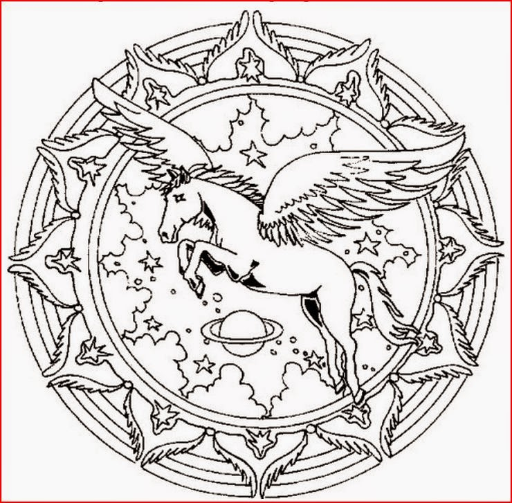 horse mandala coloring pages coloring.filminspector.com