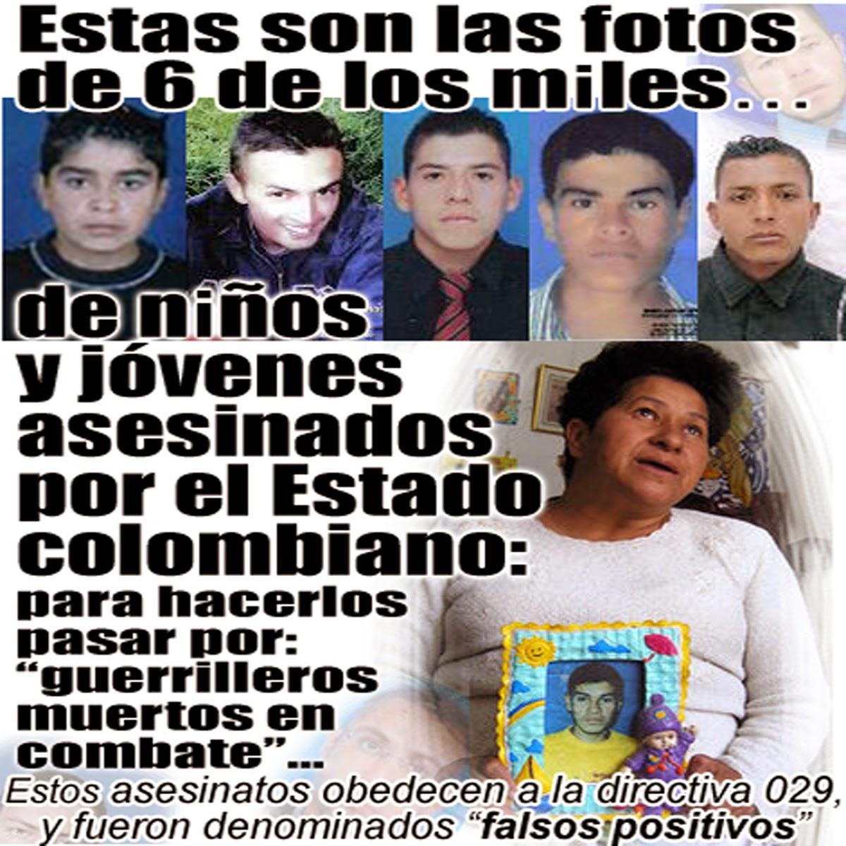 """Persiste la política de estado de los """"falsos positivos"""" en Colombia - (con VIDEO teleSUR)"""