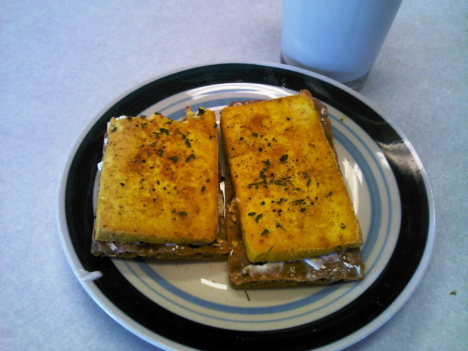 Fried Tofu Tofu Fried Egg Sandwich