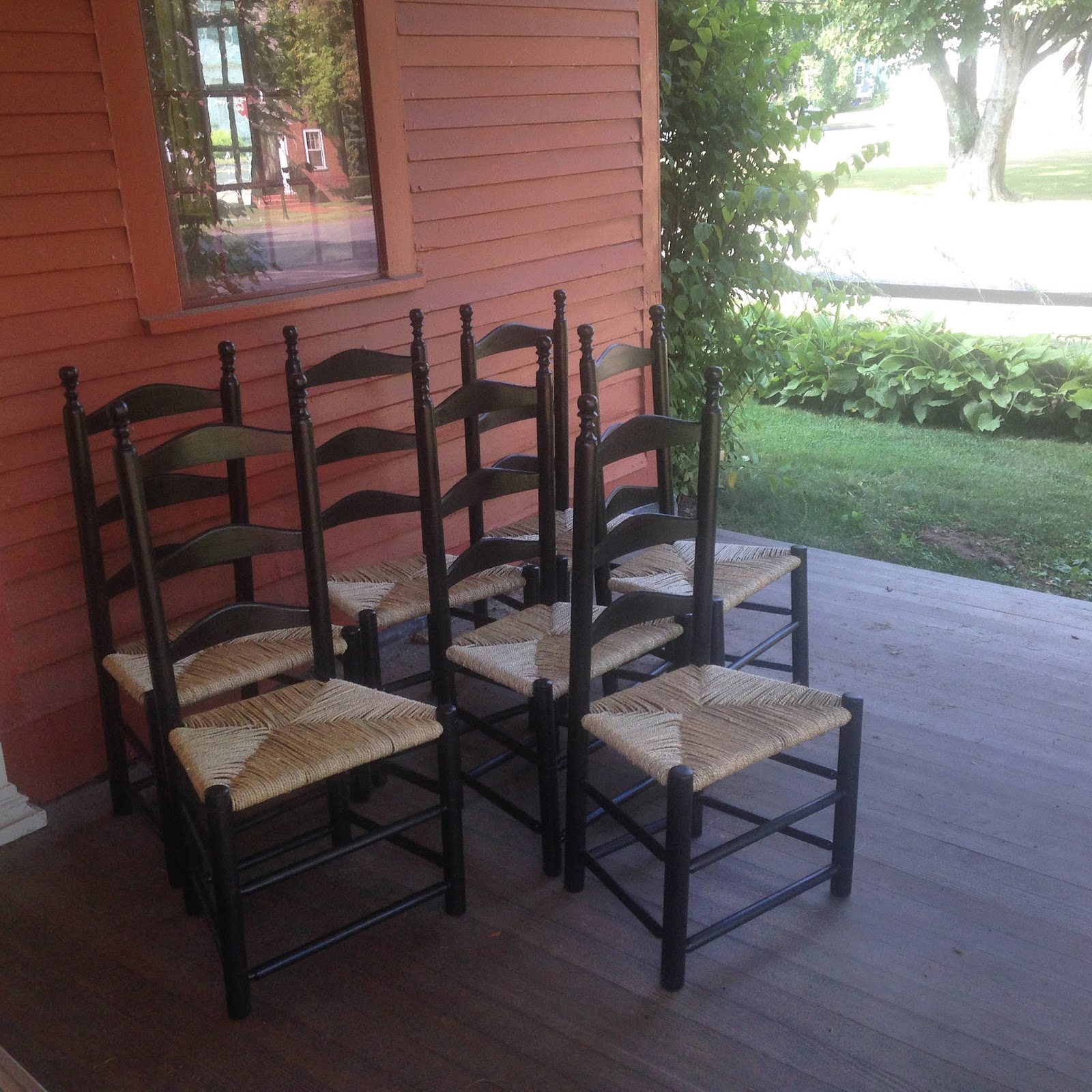 The Period Craftsmen Ladder Back Chairs