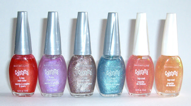 Maybelline Colorama - Peach Daiquiri, Purple Party, Twinkling Toffee, Emerald Frost, Pink Pinata x2