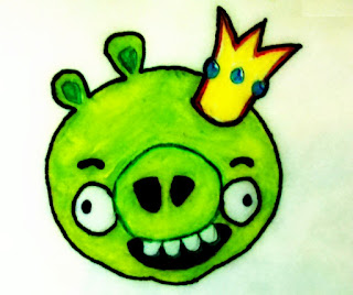 Bad Pig Painting from Angry Birds