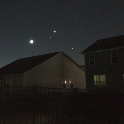 planets and moon with iphone