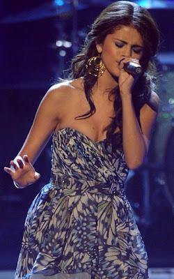 Selena Gomez Gold Hoop Earrings
