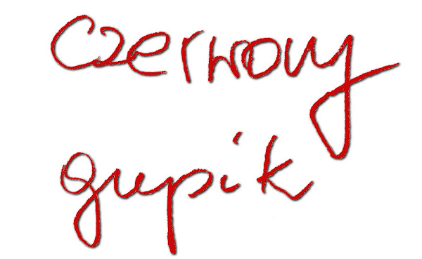 czerwony gupik
