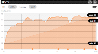 EPOC and VO2 Chart in Movecounts for Suunto Quest