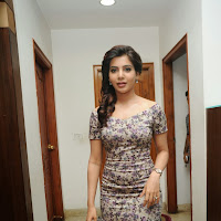Samantha latest photos in floral short dress at attarintiki daaredi movie 25 days press meet
