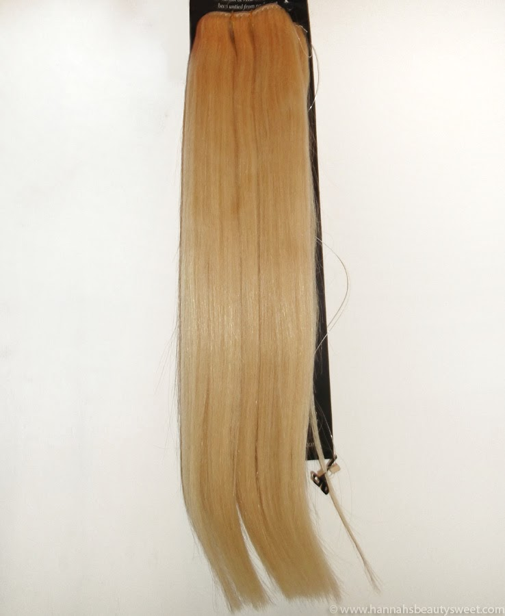 Halo, long hair, bleach extensions
