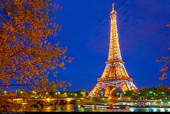 glowing Eiffel Tower