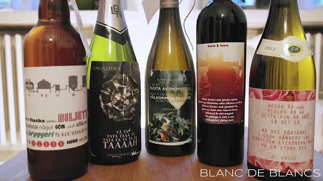 Häälahjaksi viiniä - www.blancdeblancs.fi