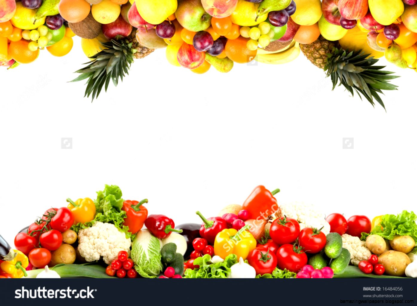 Fruit And Vegetable Borders Stock Photo 16484056  Shutterstock
