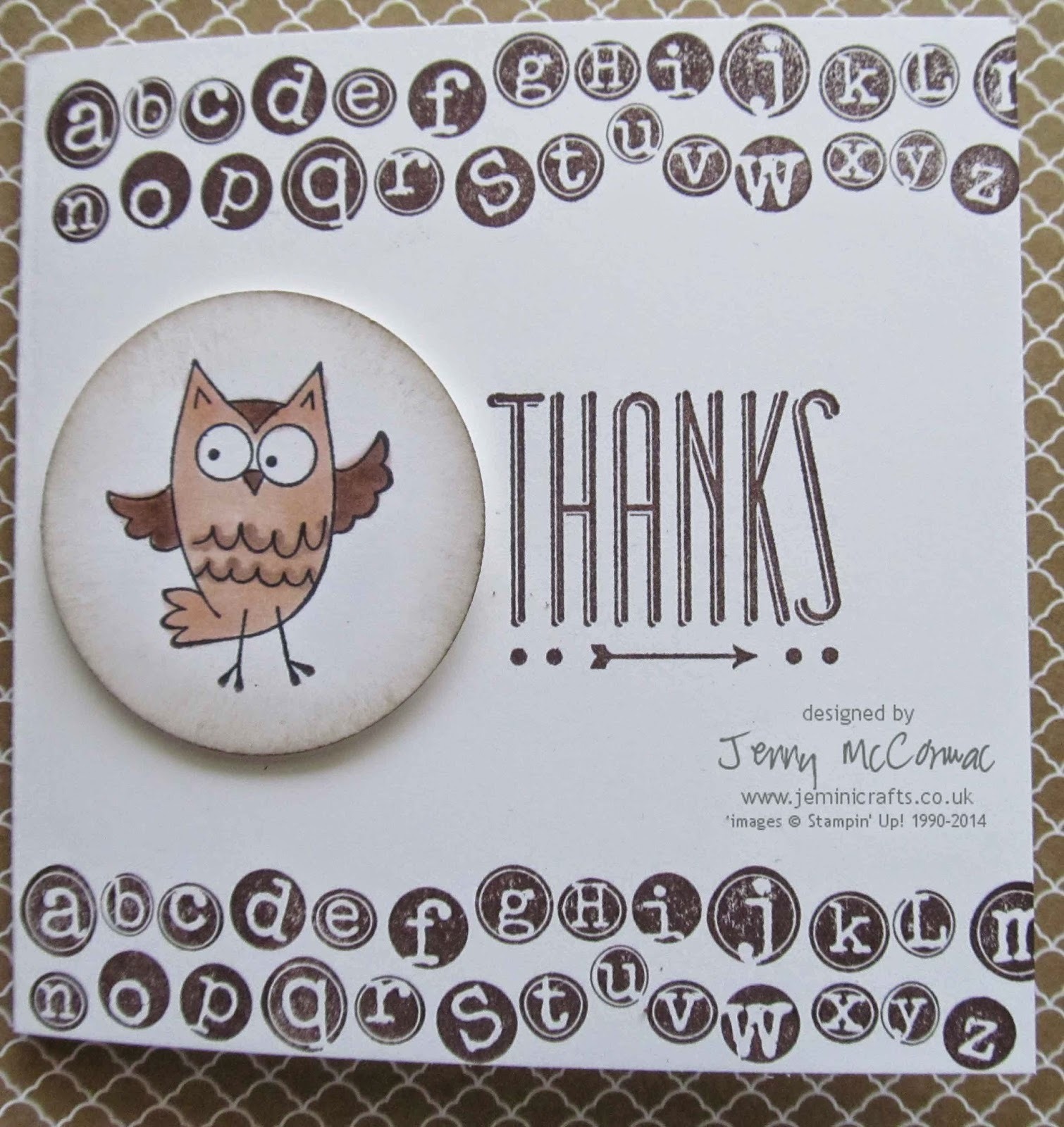 www.jeminicrafts.co.uk Teachers Thank you Card