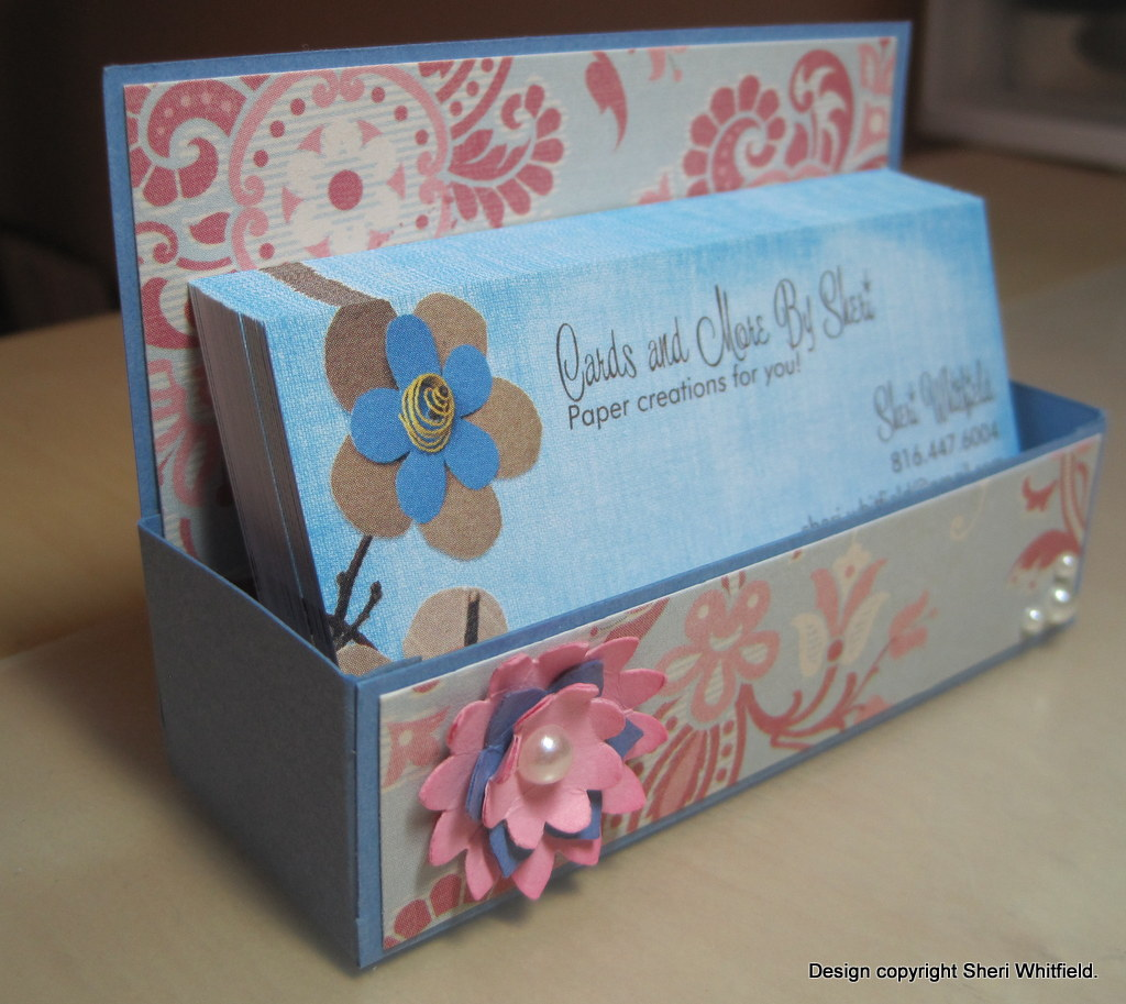 Cards and More by Sheri: Business Card Holder/Box Tutorial