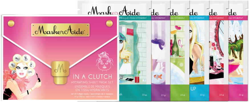"Masker Aide ""In a Clutch"" Facial Masks"