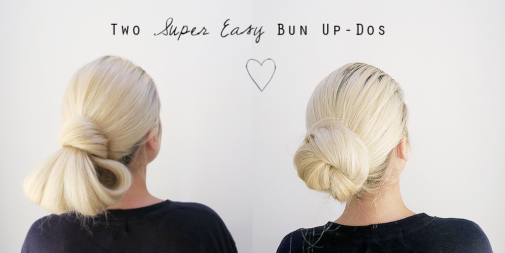 Hair Tutorial Two Super Easy And Glam Low Bun Up Dos Grace Braver