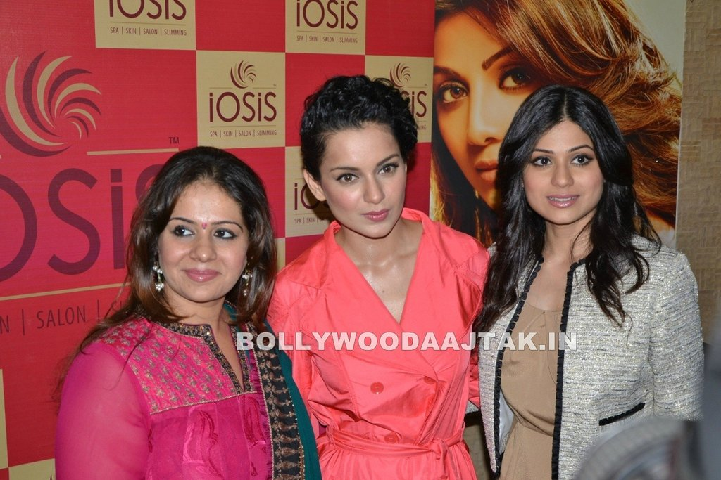 1 - Kangana Ranaut & Shamita Shetty at Iosis Spa launch