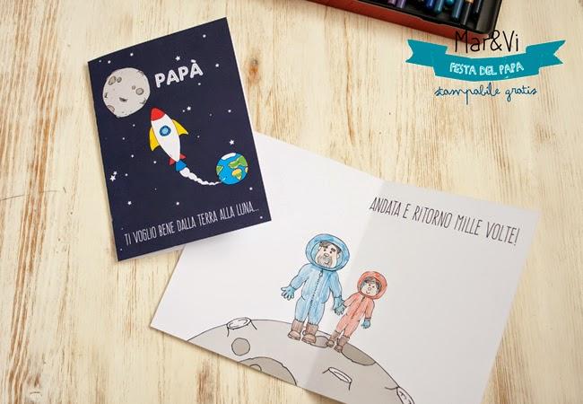 Biglietto per la Festa del Papà da stampare gratis