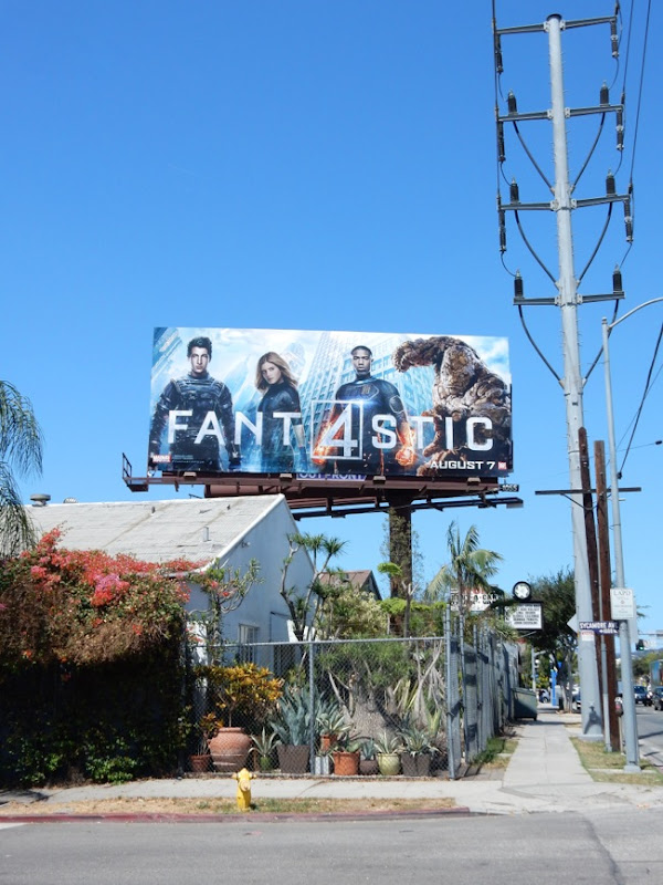 Fantastic 4 movie billboard