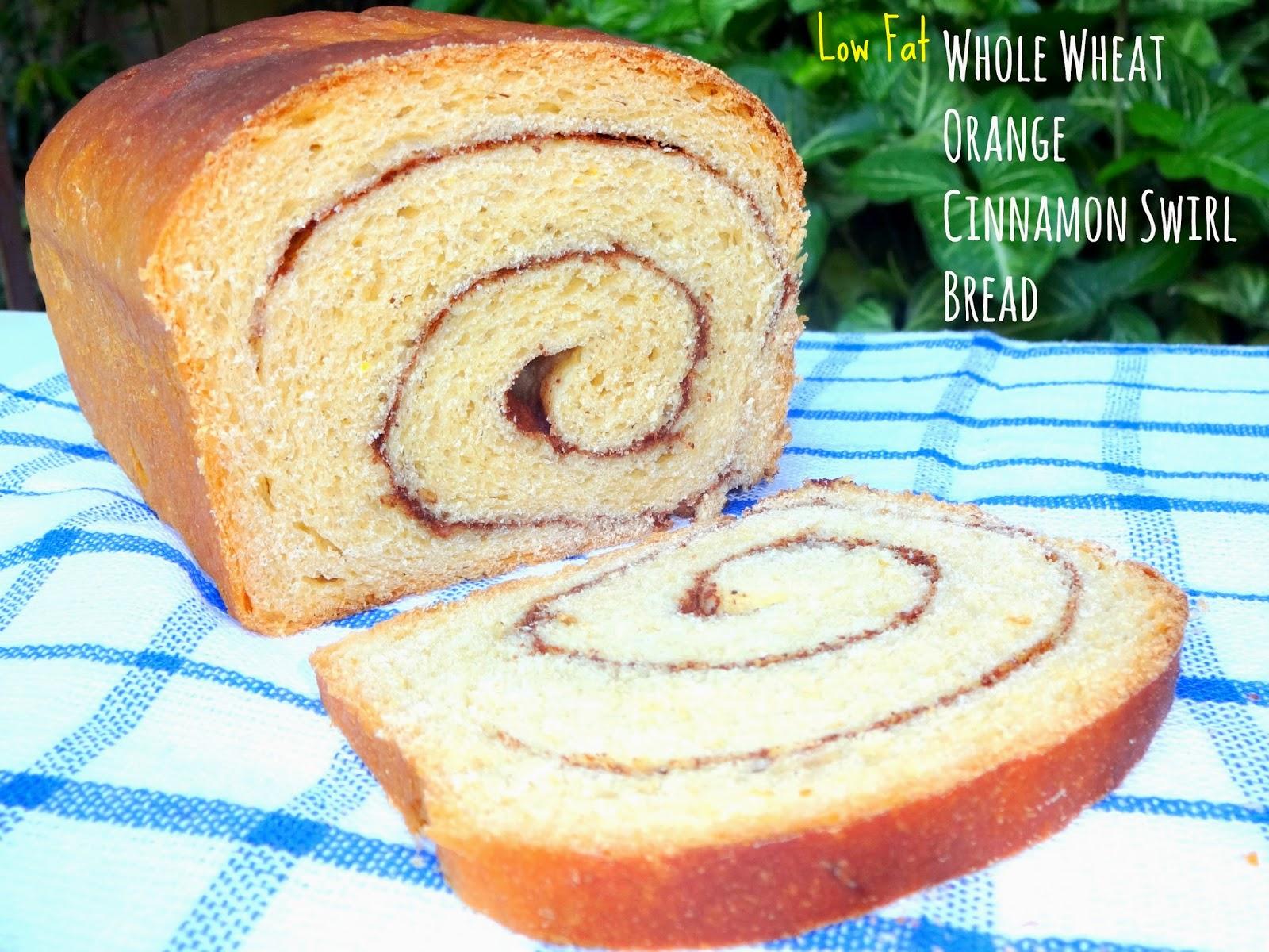 AMBROSIA: Low Fat Whole Wheat Orange Cinnamon Swirl Bread