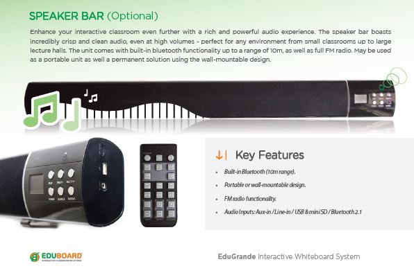 WOW! Unbelieveable SPECIAL on EduBoard Sound Bar for Classrooms