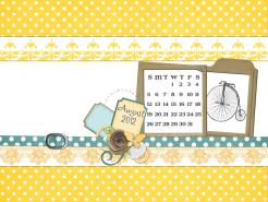 august 2012 desktop calendar thumbnail