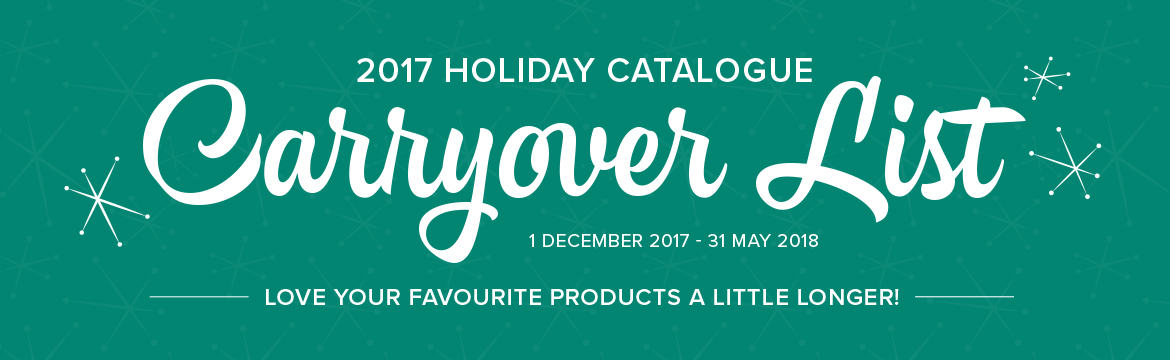 Australian Holiday Catalogue Carryover List