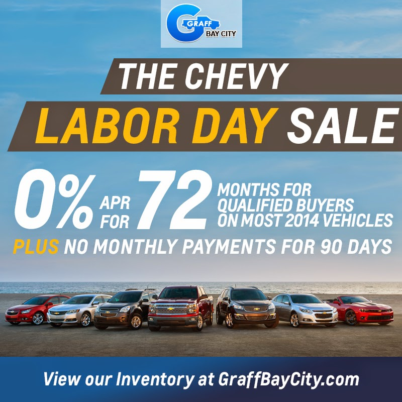 Chevy Labor Day Sale at Graff Bay City