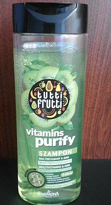Szampon do włosów przetłuszczających się multiwitaminy & kiwi Tutti Frutti
