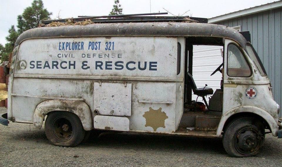 Just A Car Guy: a cool old Civil Defense IH Metro van gets a 2nd ...