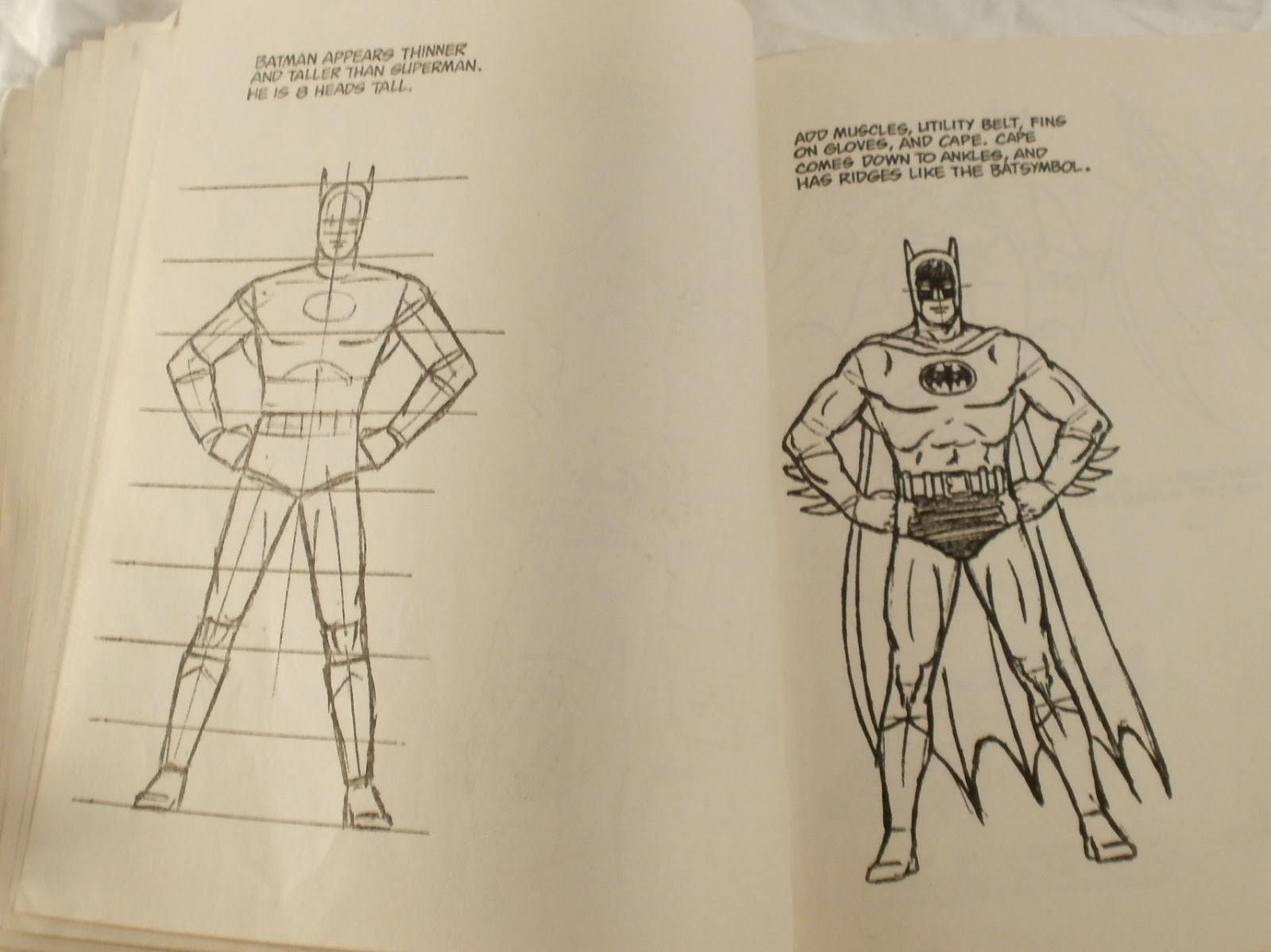 1983 quot how to draw super heroes quot golden book 2154 dc comics edition