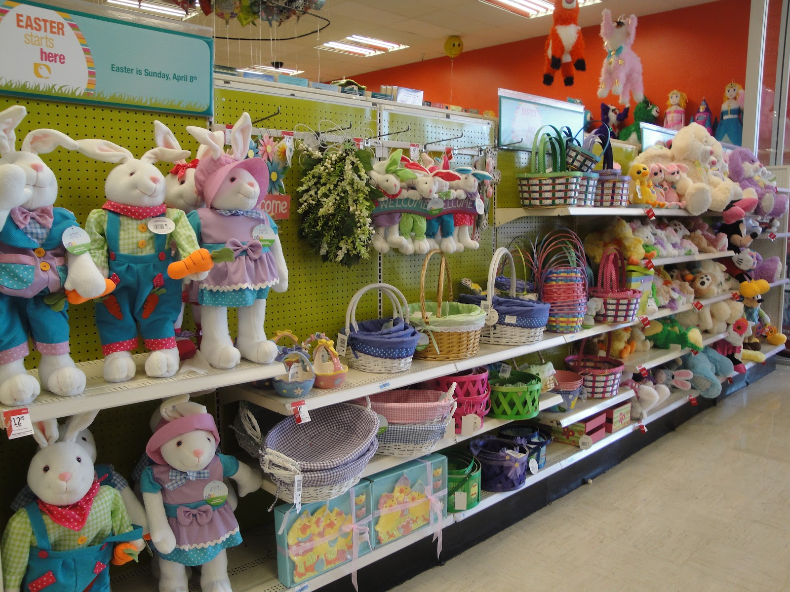 Easter Basket Shopping on a Bud at Kmart