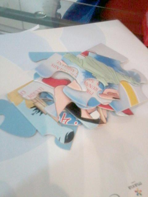 Caricatura digital en rompecabezas