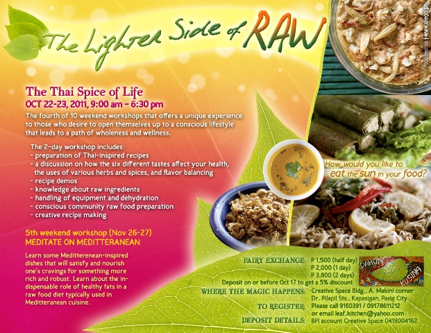 An invite to the lighter side of raw 4 the thai spice of for 8 spices thai cuisine menu