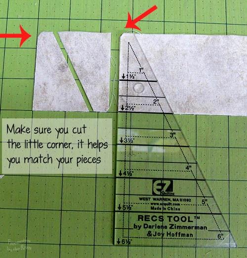 cut corner when using the Tri Rec tools