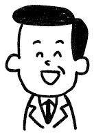 ■の表情のイラスト(笑い)白黒線画