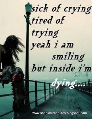 Charmant Sick Of Crying   Sad Quote With Sad Girl