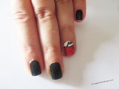 nail art mela rossa