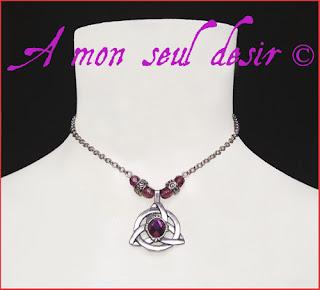 Collier celte celtique triquetra mythologie nordique Viking celtik celtic necklace