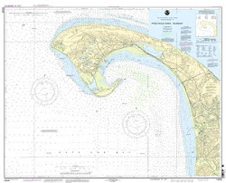 Topographic Map of Cape Cod Bay by Provincetown and Truro