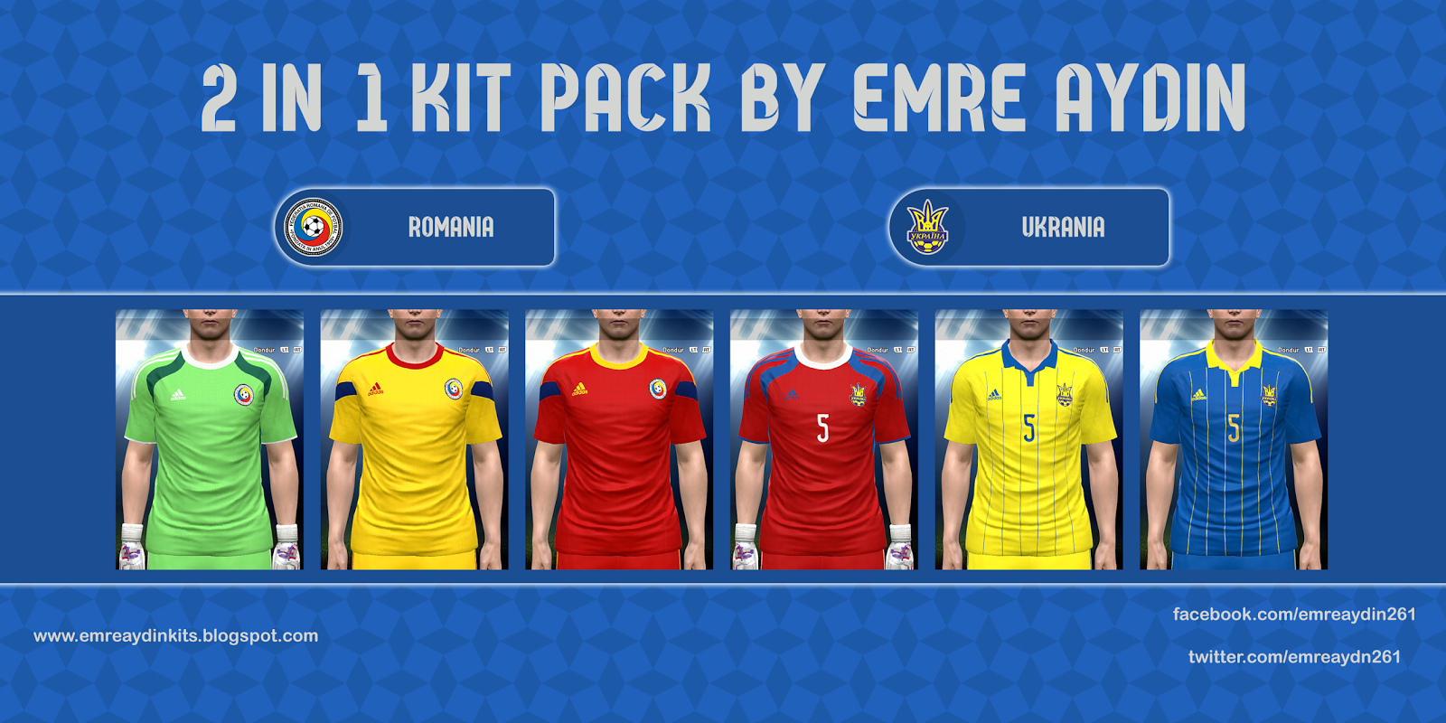 PES 2015 2 In 1 Kit Pack (Romania, Ukraine) by Emre Aydin